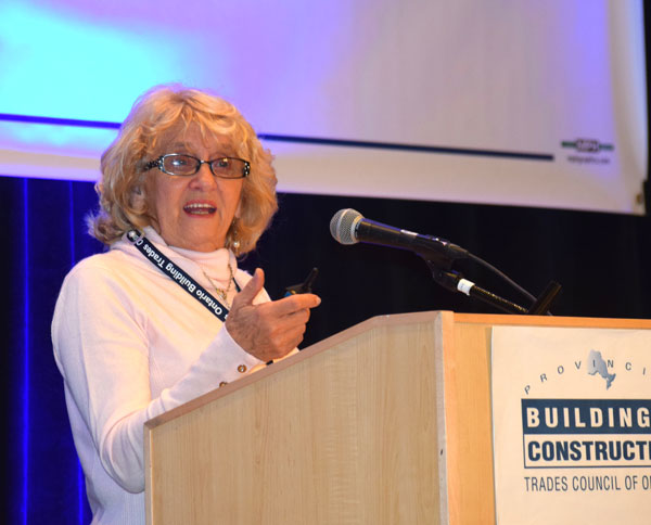 De Novo Treatment Centre executive director Marie Lloyd spoke to delegates attending the recent Provincial Building and Construction Trades Council of Ontario annual meeting about plans for expansion of the addictions facility.