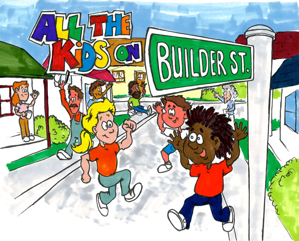 The All the Kids on Builder Street colouring and story book is the first in a series of five educational and promotional books geared at informing youth about opportunities in the skilled trades.