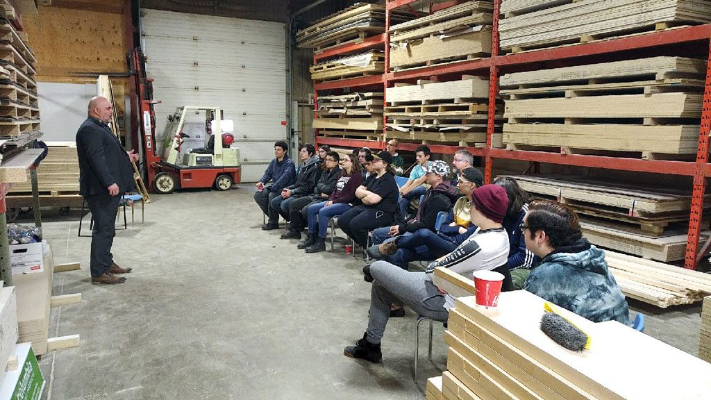 PHOTO: Cameron Heights Students Learn About Millwork Jobs