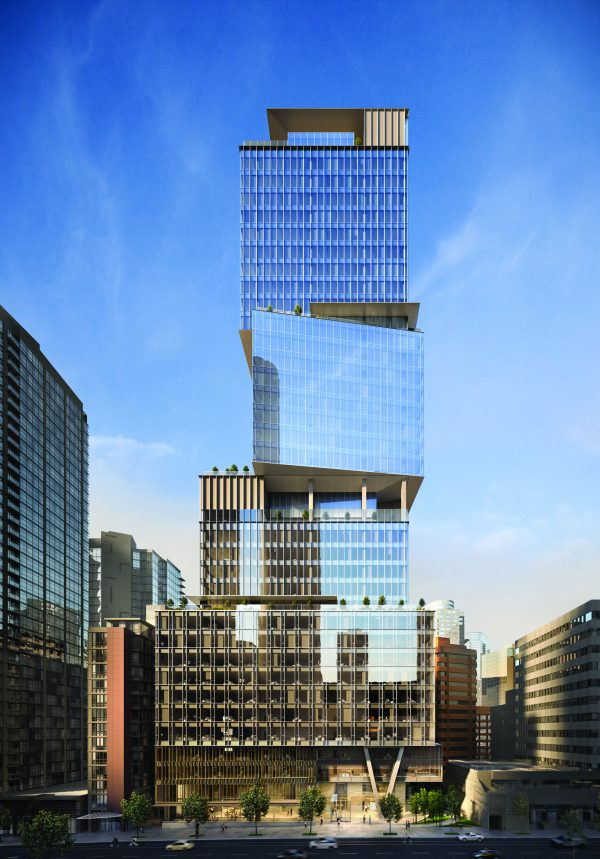 Construction work is slated to begin in the spring on Vancouver's tallest office building, known as The Stack. Located at 1133 Melville St. between Thurlow and Bute, the building will be 530-feet tall and 37-storeys.
