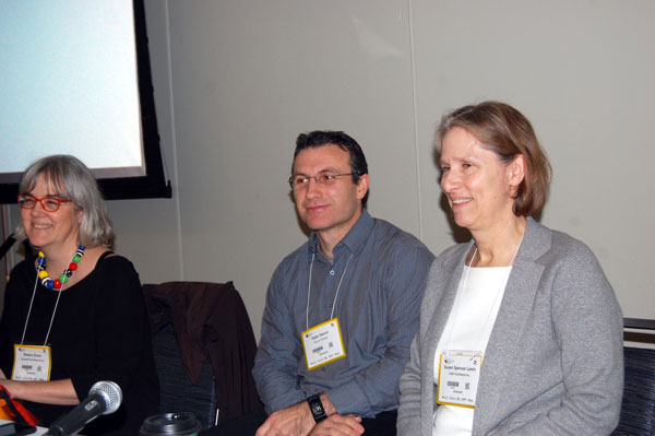 A case study on the Mount Dennis Child Care Centre was presented at a Buildings Show seminar by Sheena Sharp, principal, Coolearth Architecture Inc., Toronto senior project manager Dejan Skoric (left), and Susan Spencer Lewin (right), a principal with CS&P Architects.