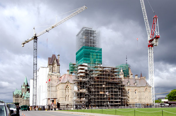 Restoring and renovating West Block (pictured) and Ottawa's historic train station as well as other buildings in the parliamentary precinct has already take place and is well underway.