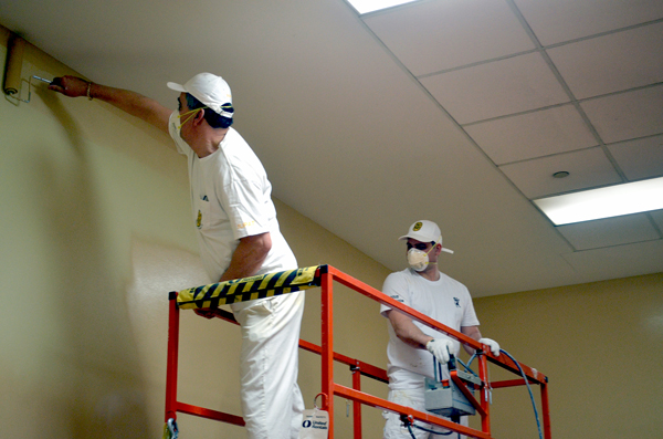 More than 40 volunteers, mostly members of International Union of Painters and Allied Trades District Council 46, recently pitched in to help paint 11,200 square feet of interior walls and ceilings at the Jamaican Canadian Association in North York.