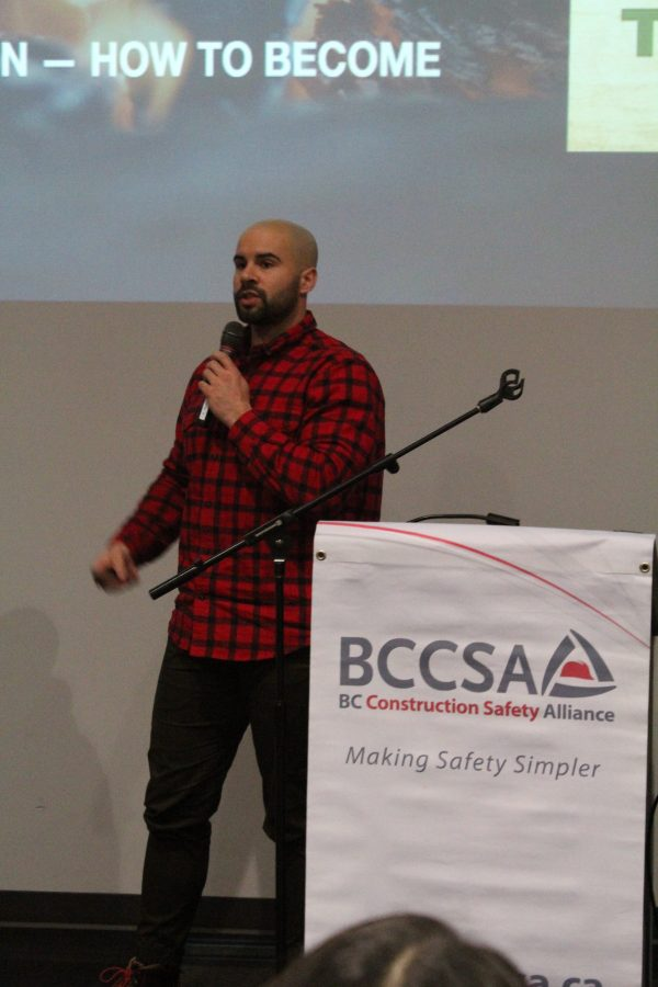 Former Canadian Football League player Shea Emry opened up about his experiences with mental health to those in attendance at the British Columbia Construction Safety Alliance's Mental Health and the Construction Industry event in Vancouver.