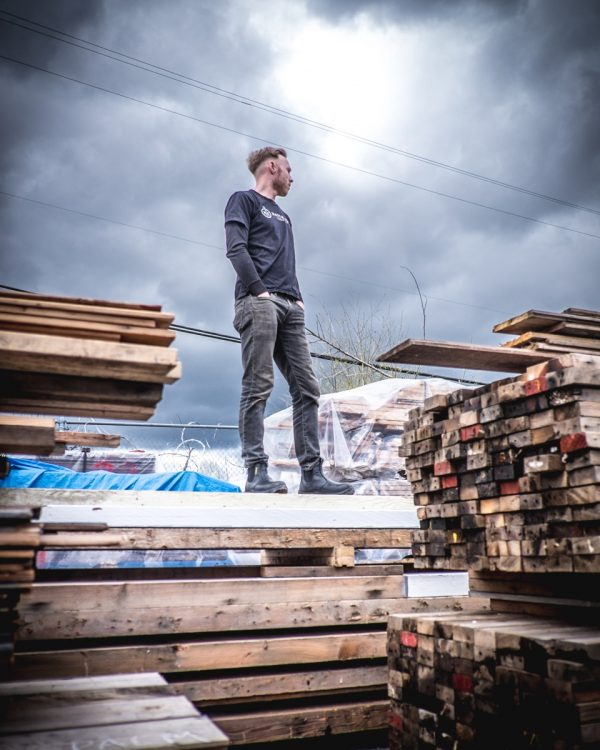 Thirty-four-year-old building contractor Adam Corneil operates Vancouver-based Unbuilders Deconstruction which takes a different angle to demolition. The work is done by hand and the wood frame is carefully salvaged for reuse.