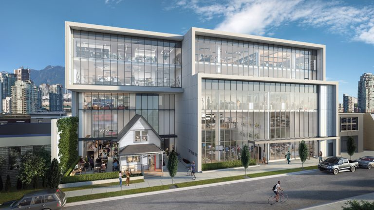 Conwest Group is building an office complex around a heritage home in Vancouver's Mount Pleasant neighbourhood. The house will act as an entrance into the larger building and a restaurant for the building's workers and the wider community.