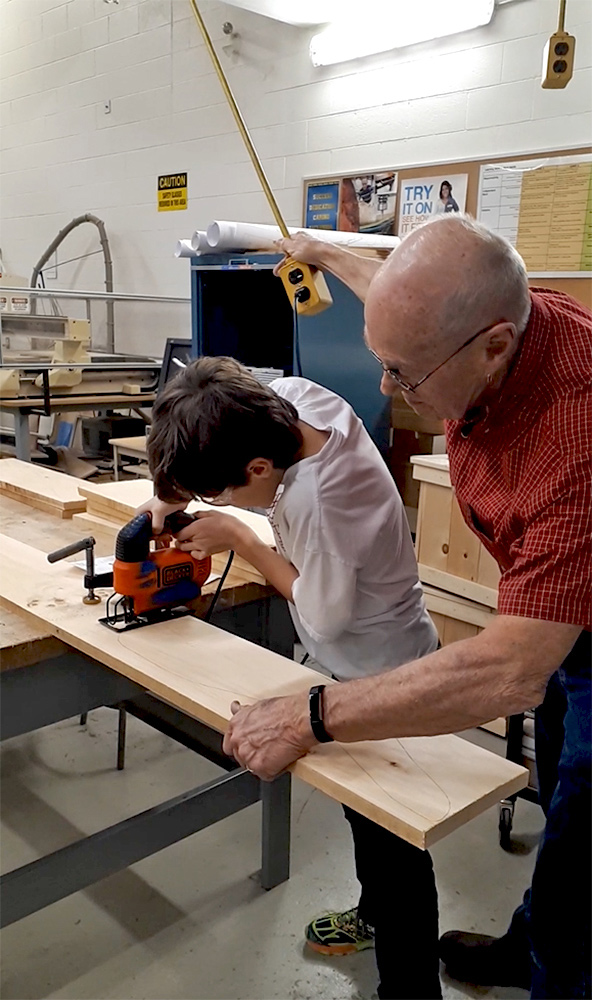 The after-hours carpentry program being operated by the Municipality of Strathroy-Caradoc started at the local high school in February. Their instructor is from the local high school and has a background in the trade.