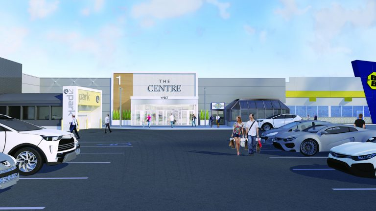 A rendering shows what the exterior of Saskatoon's Centre Mall will look like after its $43 million renovation wraps up next year. PCL Construction is the general contractor for the project which was designed by Quebec firm Pappas Design Studio Inc.