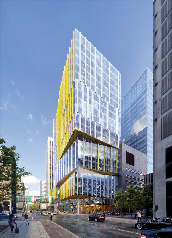 B+H said in a release it designed the facade of the new SickKids Patient Support Centre in Toronto with a significant degree of transparency to foster connectivity between SickKids and the surrounding community.