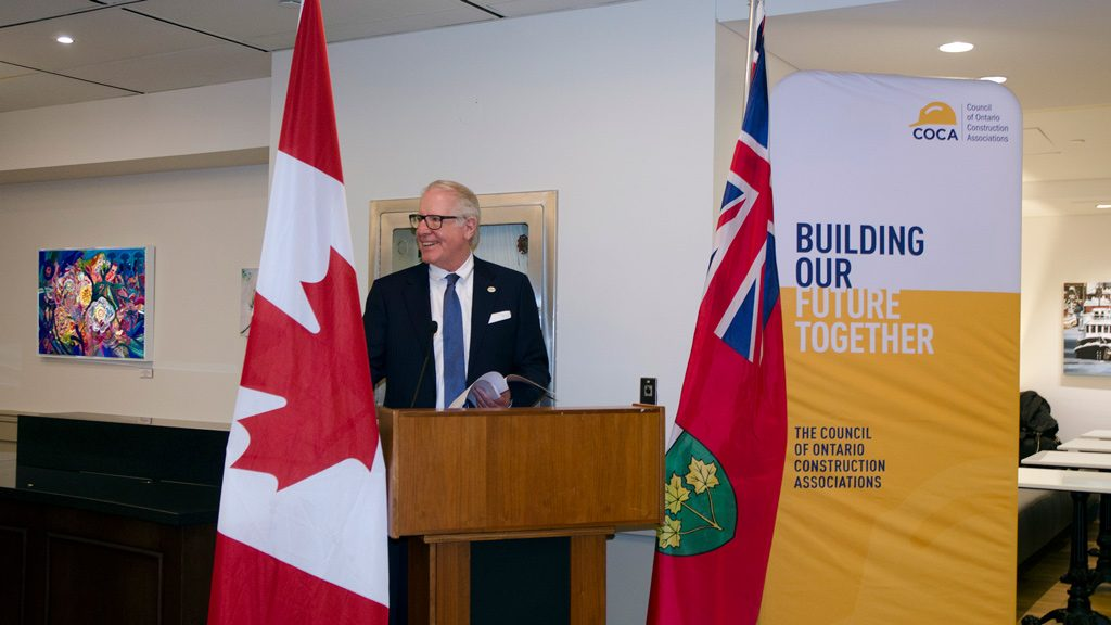 COCA president lobbies prompt payment, adjudication deadlines during Construction Day event