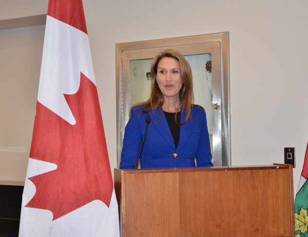 Attorney General Caroline Mulroney was at the reception and told the crowd that her government is committed to implementing the prompt payment regime and adjudication process, part of the modernization of the lien act, by Oct. 1.