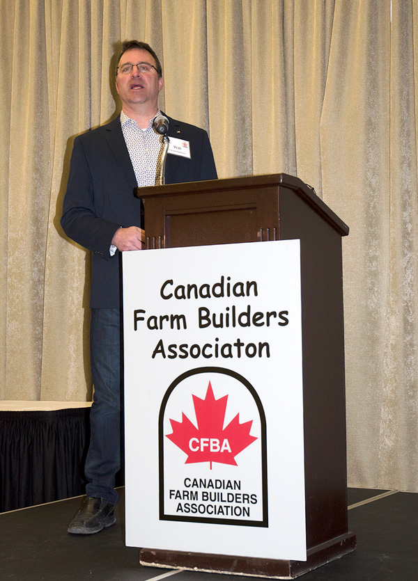 During Canadian Farm Builders Association's annual conference in Stratford, Ont. Will Teron, director of heritage  and investigation with Tacoma Engineers, discussed proposed Farm Building Code requirements that are expected to be incorporated into the National Building Code and released in 2020.