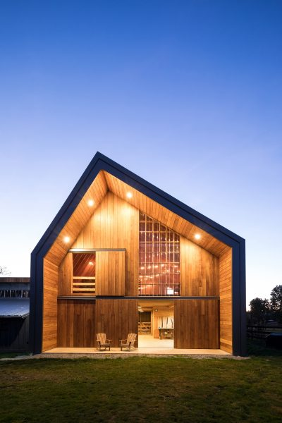 Asher DeGroot and MOTIV Architects Inc. won the Commercial Wood Design award at the 15th Annual Wood Design Awards for work done on the Swallowfield Barn in Langley, B.C.