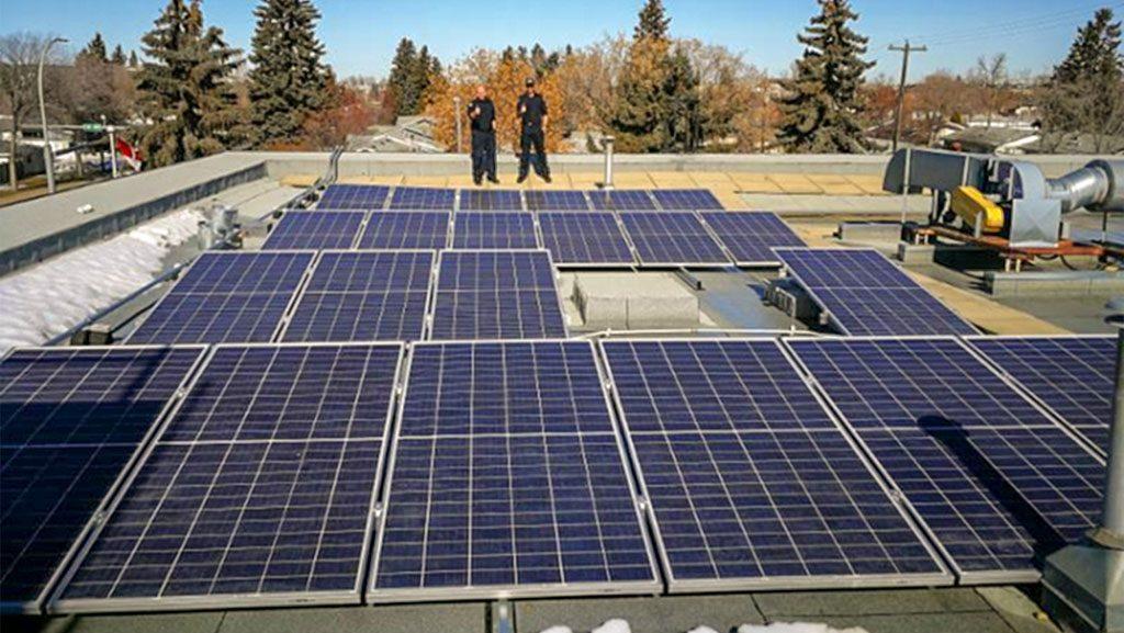 Solar panels installed at Edmonton fire station