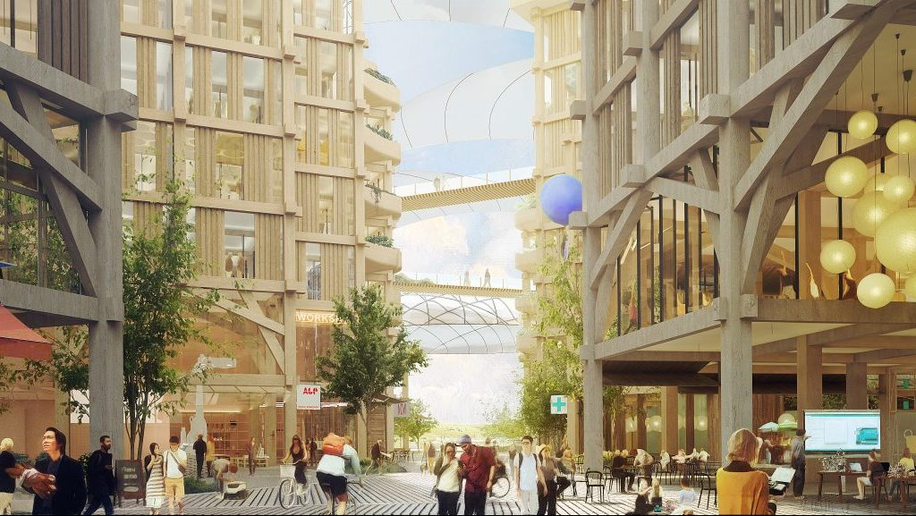 Sidewalk Labs unveils heated walkways and building raincoats for Quayside