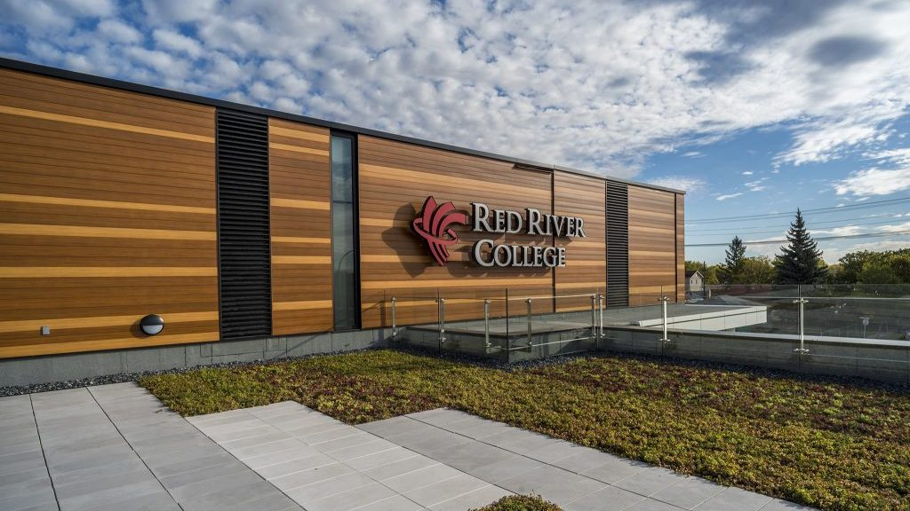 Architecture Spotlight: Exterior of RRC's new trades centre inspired by a birch forest