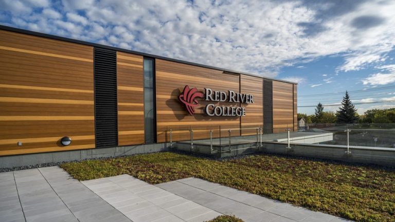 The exterior of the new Skilled Trades and Technology Centre on the Notre Dame campus of Red River College in Winnipeg was inspired by a birch forest, said Doug Hanna, an architect with Number TEN Architectural Group in Winnipeg and the principal in charge of the project.