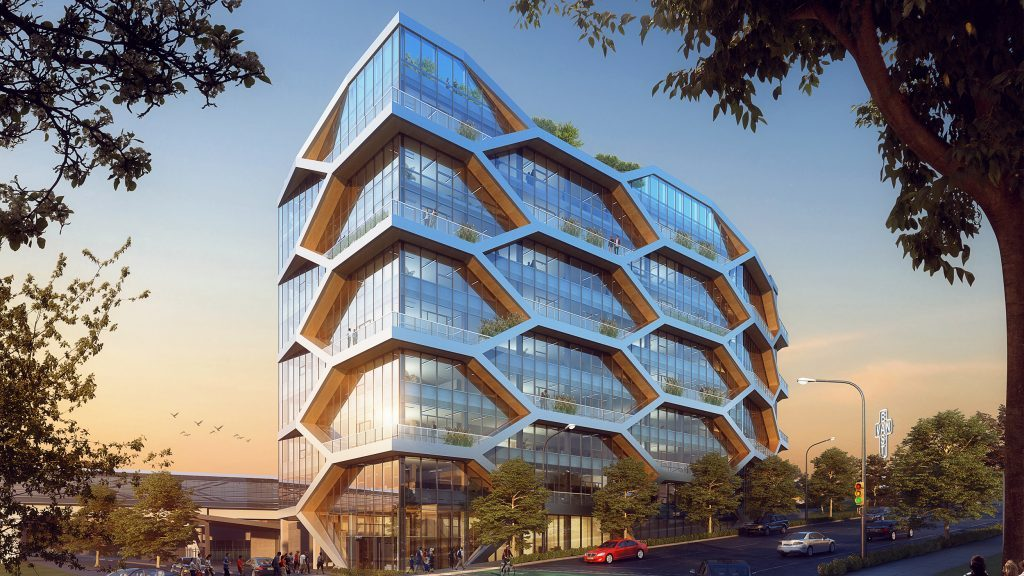 Vancouver approves 'cellular' timber building that resembles a honeycomb