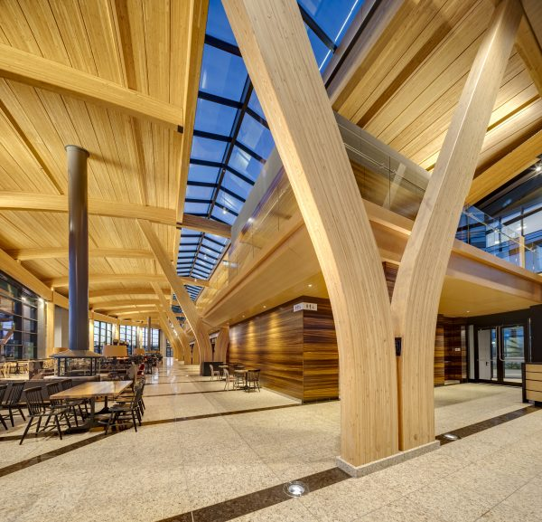 The Industry Award for the 2019 Wood WORKS! Alberta Prairie Wood Design Awards went to the ATCO Headquarters in Calgary, Alta., designed by Gibbs Gage Architects with Pickard Chilton.
