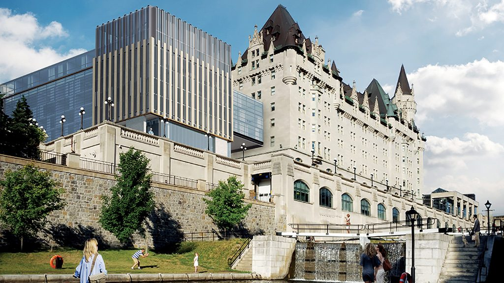 Larco submits revisions to Chateau Laurier addition