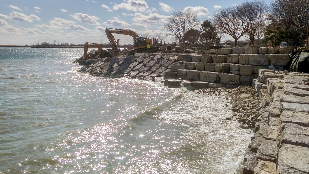 TRCA equips Rotary Peace Park shoreline with new armour