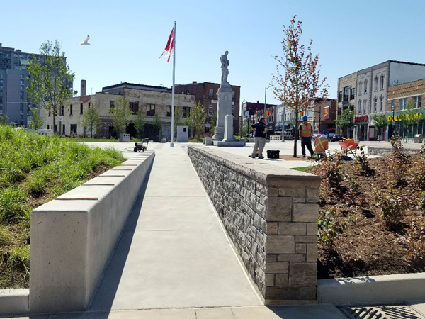 Rutherford Construction won the Category 2 Industrial award for Memorial Square Meridian Place in Barrie, Ont. at this year's Ontario Builder Awards presented by the Ontario General Contractors Association. The project involved preserving the history of Fred Grant Square.