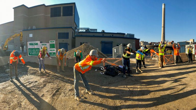 Walsh Canada kicked off Safety Week with a Stretch and Flex at Ashbridges Bay Wastewater Treatment Plant in Toronto May 6.