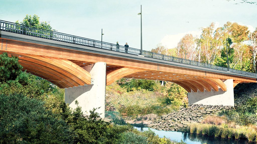Duchesnay Creek Bridge replacement to utilize timber construction