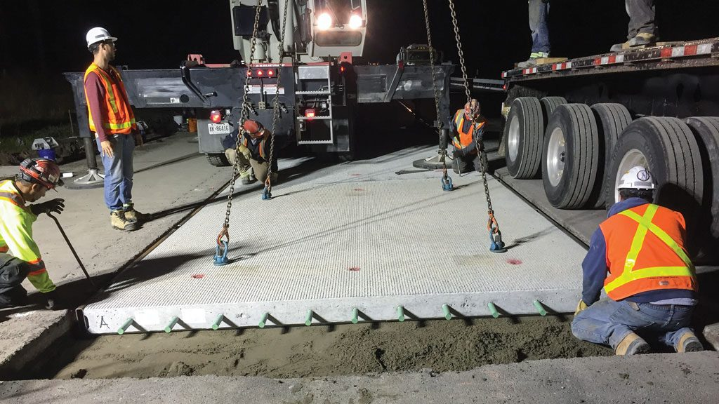 Concrete slabs get the nod for quick highway repairs