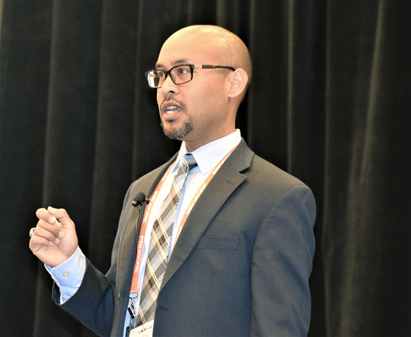 Guest speaker Ray Lota, director of construction management for Kaiser Permanente in California, was billed as a champion of change for the lean community at the recent LCIC conference.