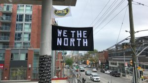 We The North banners fly high at PCL sites