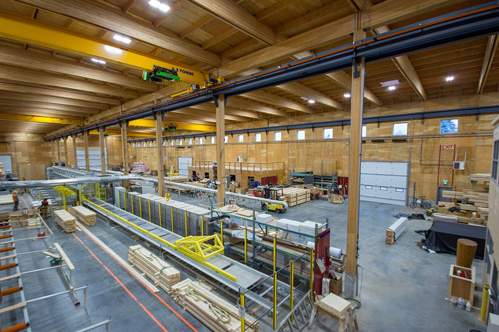 Short-term manufacturing facilities improve pre-fabrication efficiency