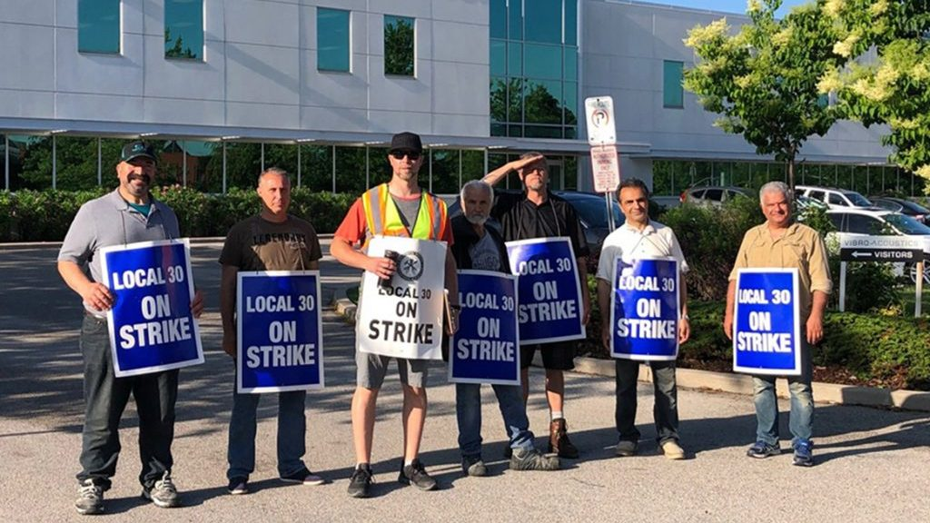 Sheet metal strike impacting Ontario projects