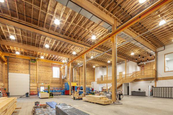 The University of Northern British Columbia's Wood Innovation Research Laboratory in Prince George was completed in April, 2018 and has been built to withstand the cold climate of northern Canada. It is the first-ever industrial building in North America to be Passive House certified.