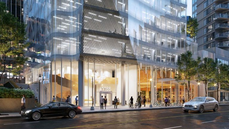 Vancouver City Council has approved rezoning at 1166 Pender in downtown Vancouver to replace a 15-storey building built in 1974 with a new and striking office tower featuring a series of stacked terraces as its roof.