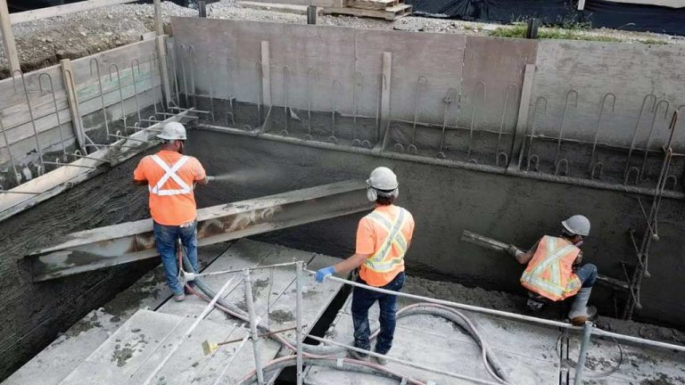 Shotcrete is being used in excavations and eliminates the need for contractors to spend a lot of money for filling and grinding the walls afterwards.