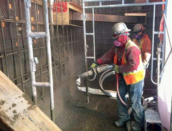 A good nozzleman is key to applying shotcrete.
