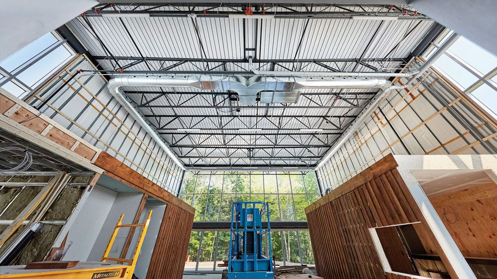 Innovative steel use in Knowlton, Que. new microbrewery build