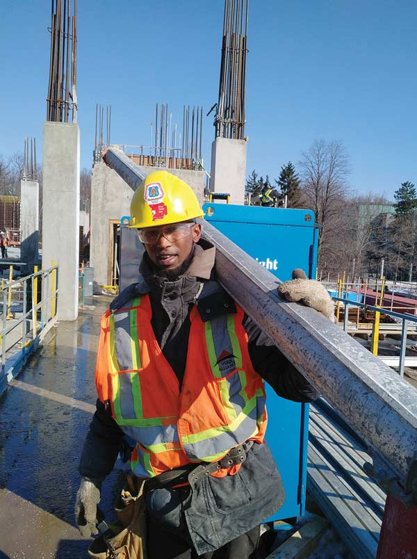 Aidurus Mohamed says his decision to take a formwork course was a life-changing decision. He has worked on the Eglinton Crosstown LRT and is employed with formworking contractor Verdi Alliance. He has his sights set on his Red Seal certification.
