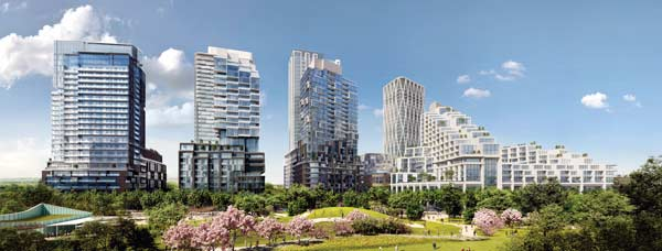 The anticipated timetable for phase one of the Galleria on the Park development in west Toronto includes the launch of condo sales in the Galleria 01 building this fall, start of construction next year and occupancy in 2023.