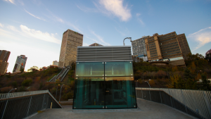 Mechanized funicular in Edmonton nets major steel design award