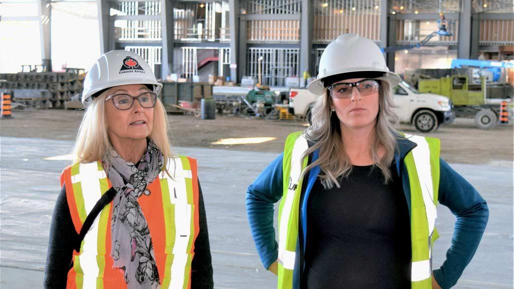 Ledcor hosts CAWIC on Hamilton hangar project tour