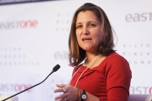 Freeland heads to Mexico in effort to finalize new NAFTA revisions