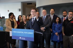 Second Surrey hospital announced by B.C. government