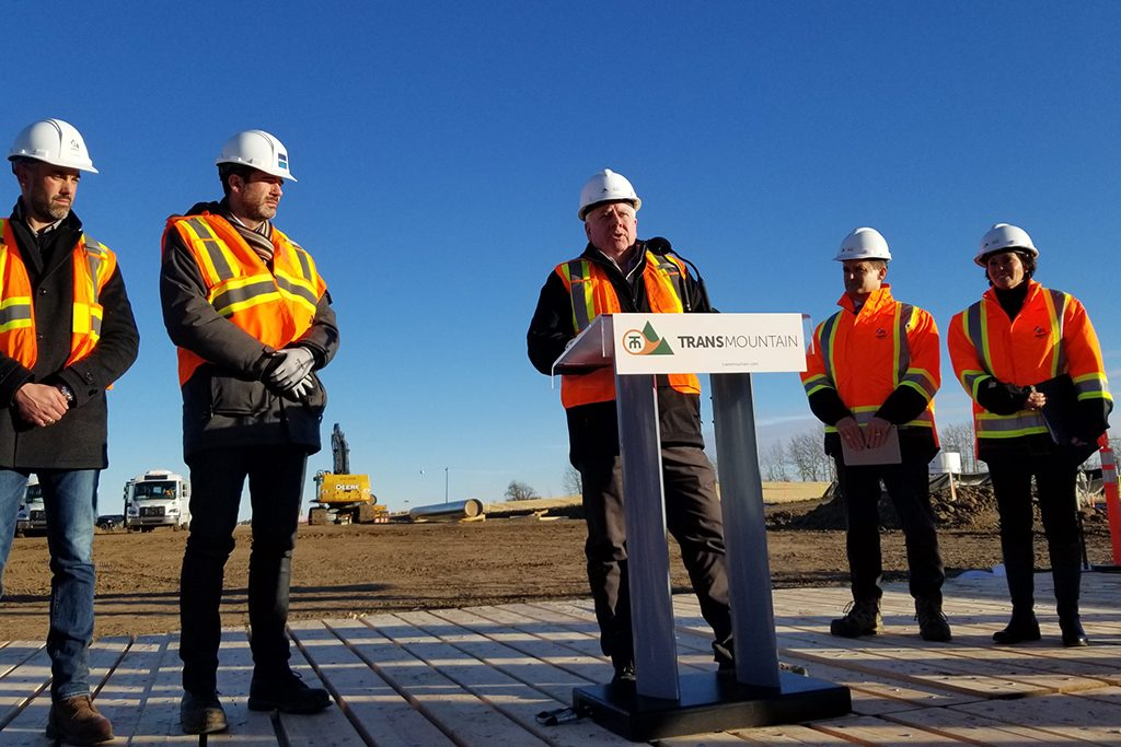 Trans Mountain marks start of pipeline construction