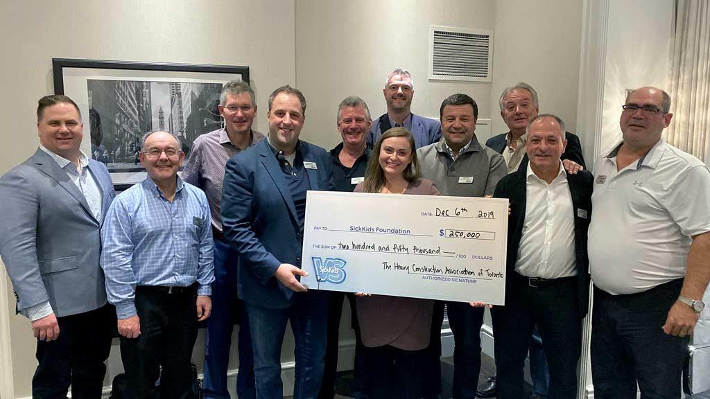 HCAT donates $250,000 to SickKids