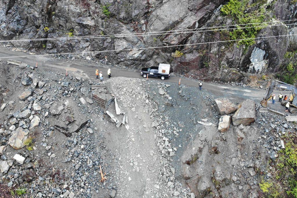 Blasting work mishap cuts off Vancouver Island highway