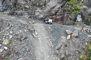 Blasting work mishap cuts off Vancouver Island highway