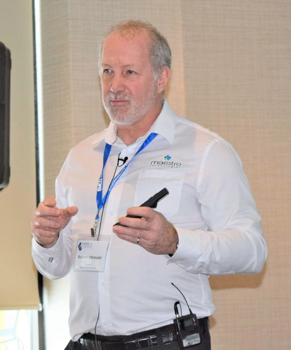 Maestro Technologies president Robert Meunier addressed Ontario Sewer and Watermain Construction Association members on innovation at the association's recent conference held in Blue Mountain, Ont.