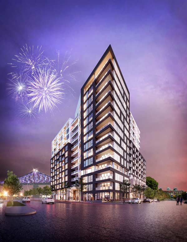The developer Mach has announced that Devimco Immobilier will be building over 2,000 condos in the Quartier des lumieres, located on the site of the former Maison de Radio-Canada in Montreal. Construction of phase one, be known by the name Auguste & Louis, is expected to begin this year.
